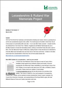 Cover of Newsletter 17, March 2014