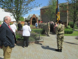 Wreath laying at Lutterworth WW1 event