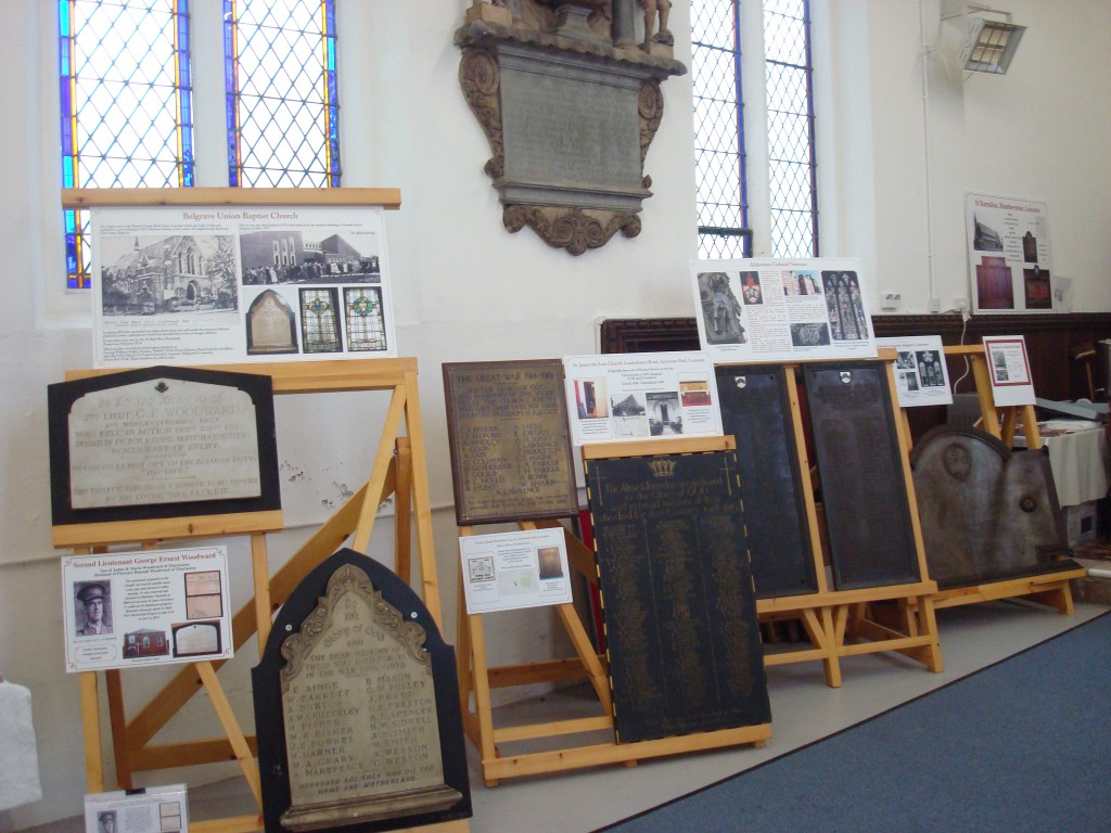 War Memorials Exhibition at All Saints Church Leicester